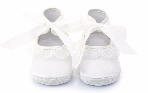 7642fc88a1457 Girls Baptism Shoe