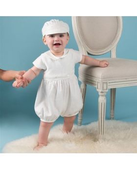 Adam - Baptism Dress & Cap for Boys-S