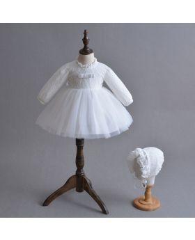 Rhianna - Baptism Dress and Cap for Girls