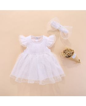 Elora - Baptism Frock with Bow