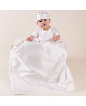 JADEN - Christening Long Gown with Hat for Boy