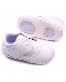 Stylish White Christening Shoe for Boys-L