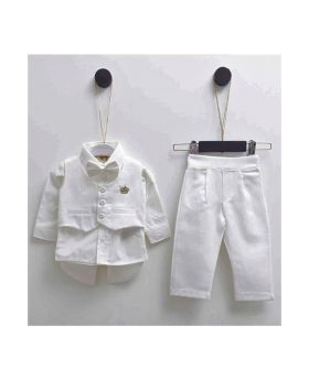 BENJAMIN - 5 Pc Tux Suit with Shoes for Baby Boy-M
