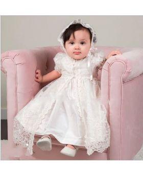 NEORAH - Christening Gown for Baby Girls-S