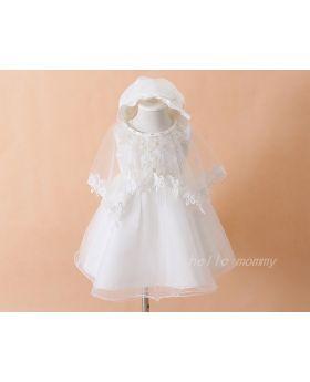 Abigail - Baptism Dress for Baby Girls-S