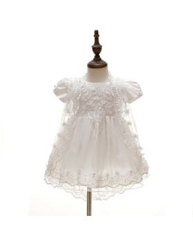 Serah - Baptism Dress and Cap for Girls
