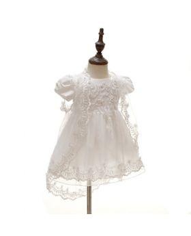 Serah - Baptism Dress and Cap for Girls-L
