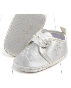 Ivory - Boys Baptism Shoes-S