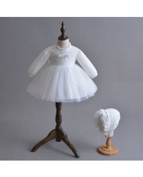 Rhianna - Baptism Dress and Cap for Girls