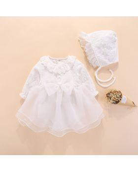 JULIANA - Baptism Dress and Cap for Girls