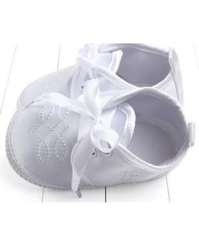Pure White - Boys Christening Shoes